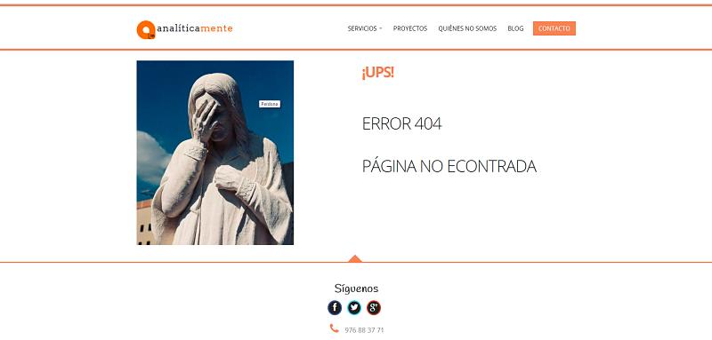 Cómo debe ser una página de error 404