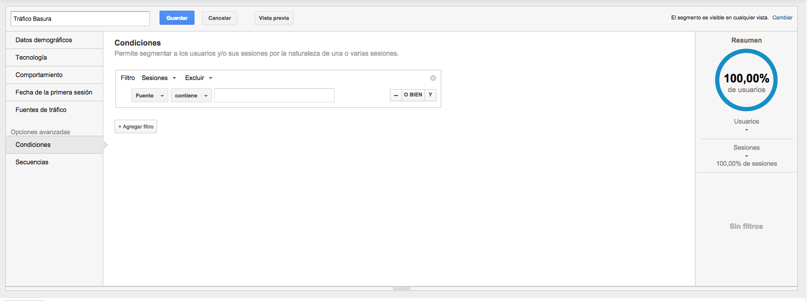 excluir google analytics