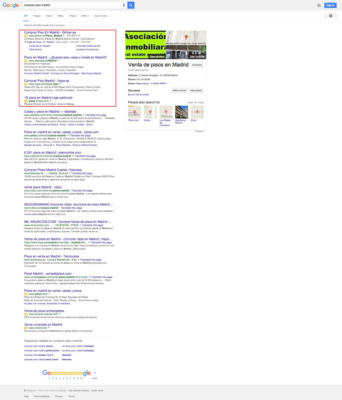 serp 4 anuncios google