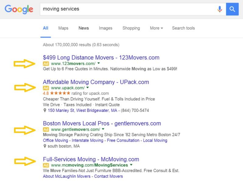 publicidad en google sem analiticamente test ab en amarillo